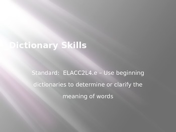 Dictionary Skills PowerPoint