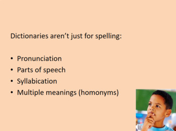 Dictionary Skills PowerPoint and Worksheet
