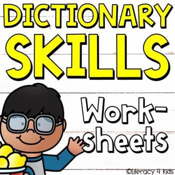 Dictionary Skills No Prep Printables