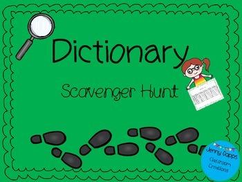 Dictionary Skills Scavenger Hunt