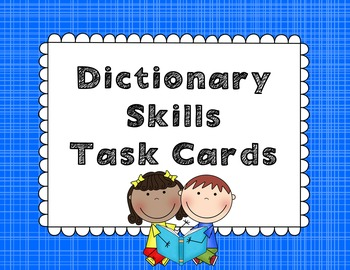 Dictionary Task Cards!