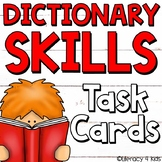 Dictionary Skills Task Cards (Patriotic Themed) for Grades 3-5
