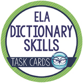 Dictionary Skills Task Cards - guide words & parts of speech Test Prep