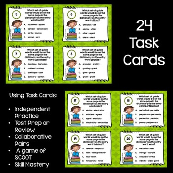 Dictionary Skills: Using Guide Words #2 Task Cards