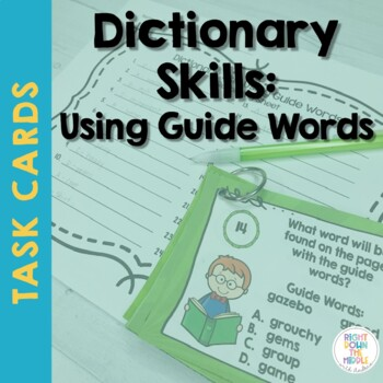 Dictionary Skills: Using Guide Words Task Cards