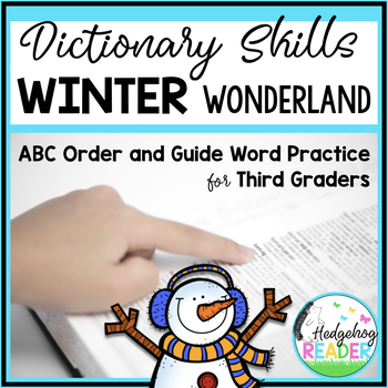 Dictionary Skills - Winter ABC Order and Guide Words CCSS