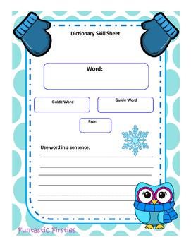 Dictionary Skills-Worksheets & Games (2 Versions)