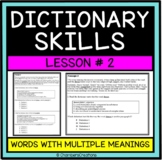 Dictionary Skills and Context Clues-STAAR Formatted-Lesson Two