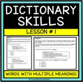 Dictionary Skills and Context Clues-- STAAR Formatted--TEK 6.2E-Lesson One