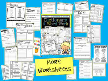 Dictionary Skills and Word Work
