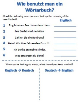 Dictionary Skills for German Students