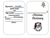 Dictionary Skills with Christmas Words