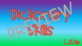 Dictionary Skills with Multiple Meaning Words (Homonyms)