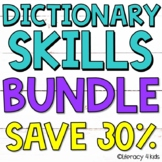 Dictionary Skills Activities HUGE $$$ SAVINGS BUNDLE for G