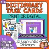 Dictionary Task Cards with Digital Google Slides or Easel