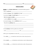 Dictionary Skills Worksheet and Detailed Answer Key