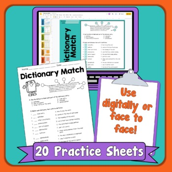 Dictionary Skills Activities Worksheets