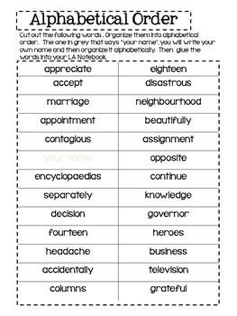 Dictionary and Thesaurus Skills - Alberta Curriculum Connections