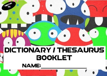 Dictionary and Thesaurus Student Booklet