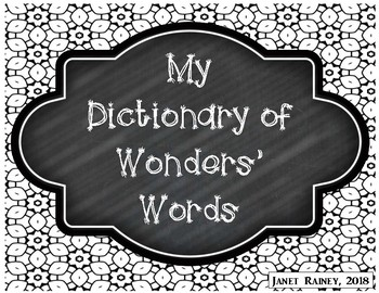 Dictionary for Wonders' Words