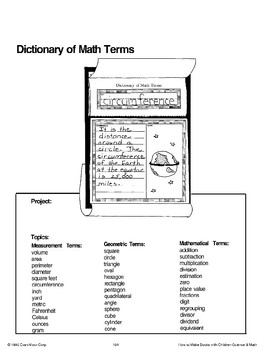Dictionary of Math Terms