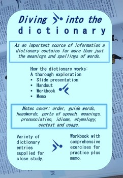 Dictionary study lesson unit