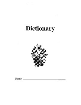 Dictionary template booklet