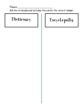 Dictionary vs Encyclopedia Sort