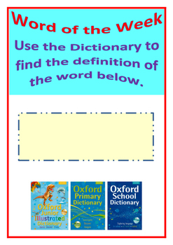 Dictionary word of the week poster