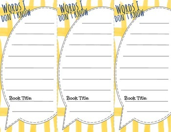 Dictionary and Thesaurus Skills Bookmarks