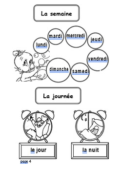 Dictionnaire des Mots / French Immersion Dictionary & Vocabulary - 28 pages!