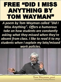 "FREE ""Did I Miss Anything"" by Tom Wayman"