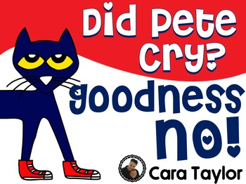 Did Pete Cry?  Goodness No!  Attention Grabber Posters 2