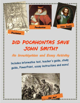 Did Pocahontas Save John Smith? An Investigation and Essay Activity