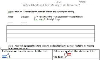 Did Spell Check Kill Grammar?