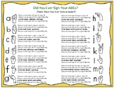 Did You Ever Sign Your ABCs?