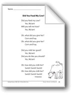 Did You Feed My Cow? (A chant)