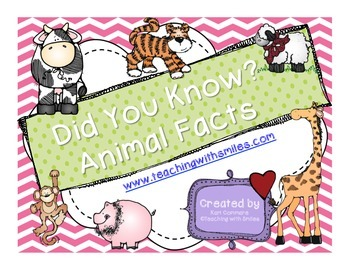 Did You Know Animal Facts Nonfiction Research