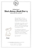 Did You Know, Black History Month Fact #3 Character Education Activity Resource
