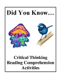 Did You Know... - Critical Thinking Reading Comprehension Activities