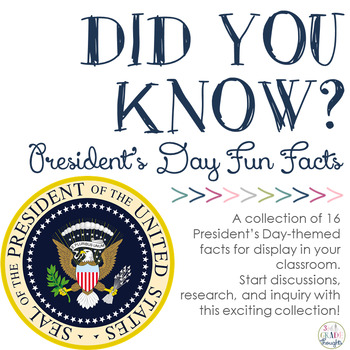Did You Know? Fun Facts For Your Classroom {President's Day}