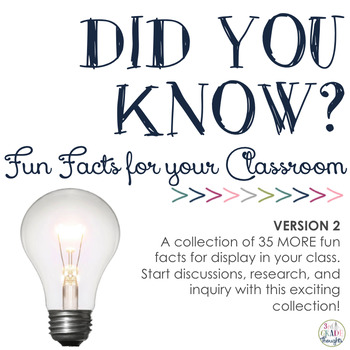 Did You Know? Fun Facts For Your Classroom {Version 2}