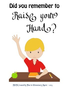 Did You Remember to Raise Your Hand Classroom Rules Poster