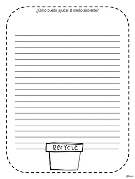 Día de la Tierra  /Earth Day (Writing Template)