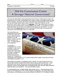 Did the Constitution Create A Stronger National Government?