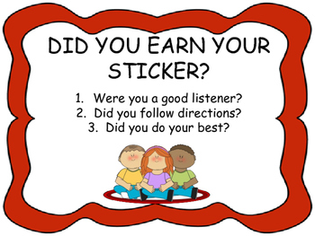 Did you earn your sticker?