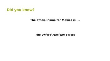 Did you know? Mexico Trivia