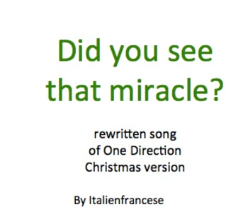 Did you see that miracle One Direction song rewritten for Christmas