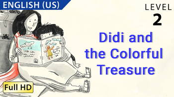 Didi and the Colorful Treasure: Animated story in  English (US) with subtitles