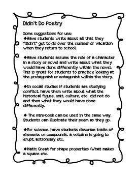 Didn't Do Poem